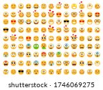 emoticons yellow set. smiling...   Shutterstock .eps vector #1746069275