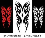 3 color tattoo tribal abstract... | Shutterstock .eps vector #1746070655