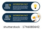 did you know interesting fact... | Shutterstock .eps vector #1746080642