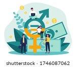 employees gender salary...   Shutterstock .eps vector #1746087062