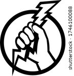 hand of an electrician holding...   Shutterstock .eps vector #1746100088