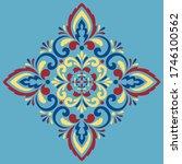 cross doodle sketch color... | Shutterstock .eps vector #1746100562