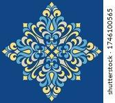 cross doodle sketch color... | Shutterstock .eps vector #1746100565