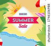 end of summer sale banner... | Shutterstock .eps vector #1746106988