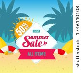 end of summer sale banner on... | Shutterstock .eps vector #1746110108