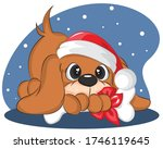 merry christmas and happy new... | Shutterstock .eps vector #1746119645