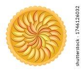 cake top view vector icon... | Shutterstock .eps vector #1746126032