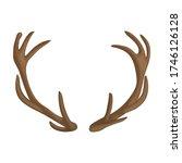elk horn vector icon.cartoon... | Shutterstock .eps vector #1746126128