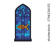 church window vector icon... | Shutterstock .eps vector #1746126152
