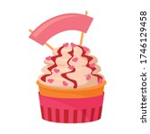 muffin vector icon.cartoon... | Shutterstock .eps vector #1746129458