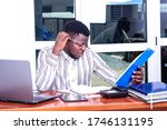 a young businessman in a...   Shutterstock . vector #1746131195
