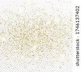 gold glitter confetti backdrop... | Shutterstock .eps vector #1746137402