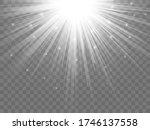 sunlight on a transparent... | Shutterstock .eps vector #1746137558