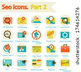 seo icons set part 2 | Shutterstock .eps vector #174614276