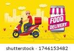 online food order and food...   Shutterstock .eps vector #1746153482