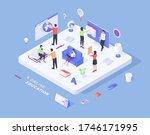 three dimensional vector... | Shutterstock .eps vector #1746171995