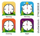 clock different times of the... | Shutterstock .eps vector #1746180818
