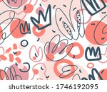 geometric vector pattern with... | Shutterstock .eps vector #1746192095