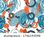 geometric vector pattern with... | Shutterstock .eps vector #1746192098