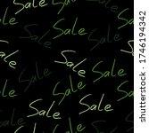 sale. seamless hand lettering... | Shutterstock .eps vector #1746194342