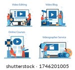 video production or... | Shutterstock .eps vector #1746201005