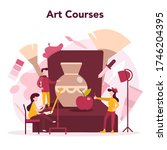 art education. male and female... | Shutterstock .eps vector #1746204395