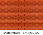red brick wall 3d vector... | Shutterstock .eps vector #1746232622