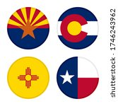 set of round icons flags.... | Shutterstock .eps vector #1746243962