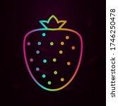 strawberry outline nolan icon... | Shutterstock .eps vector #1746250478