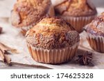 Close Up Of Homemade Muffins...