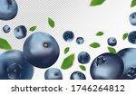 blueberry background. fresh... | Shutterstock .eps vector #1746264812