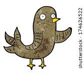 cartoon waving bird  | Shutterstock .eps vector #174626522