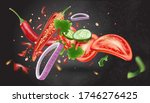 red chili pepper with chili ... | Shutterstock .eps vector #1746276425