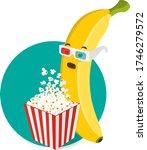 vector shocked banana character ... | Shutterstock .eps vector #1746279572