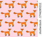 cute pink seamless pattern with ... | Shutterstock .eps vector #1746285212