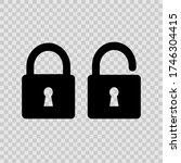 lock   vector icon. safety... | Shutterstock .eps vector #1746304415