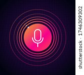 microphone icon button with... | Shutterstock .eps vector #1746309302