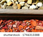 Red  Orange And Brown Wooden...