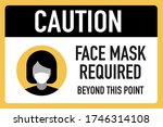 caution face masks required... | Shutterstock .eps vector #1746314108