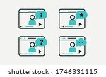 set of icons online education... | Shutterstock .eps vector #1746331115