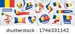 vector set of the national flag ... | Shutterstock .eps vector #1746331142