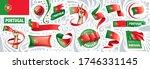 vector set of the national flag ... | Shutterstock .eps vector #1746331145