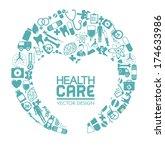 medical design over  white... | Shutterstock .eps vector #174633986