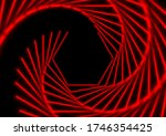 bright red laser lines abstract ... | Shutterstock .eps vector #1746354425