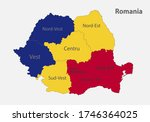 map of the romania in the... | Shutterstock .eps vector #1746364025