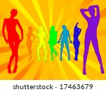colorful group of posing models ... | Shutterstock .eps vector #17463679