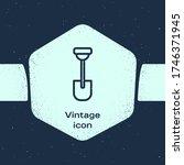 grunge line shovel icon... | Shutterstock .eps vector #1746371945