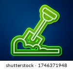 glowing neon line shovel in the ... | Shutterstock .eps vector #1746371948