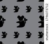black color koala patterns on... | Shutterstock .eps vector #1746373712