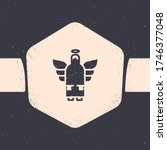 grunge christmas angel icon... | Shutterstock .eps vector #1746377048